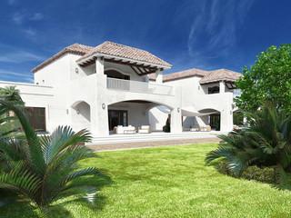 Luxurious white mediterranean style villa