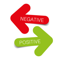 negative positive illustration arrows