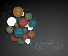 Vector abstract circles pollution infographic template