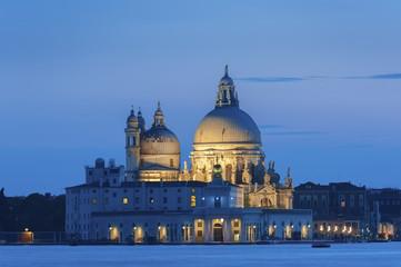 Fototapete - Venice at sunset. Basilica di Santa Maria della Salute.