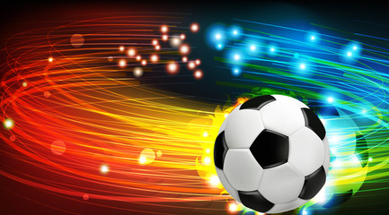 Shining soccer ball