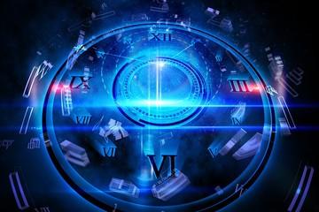 Blue glowing technology design