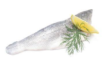 Raw Fillet of Sea Bass