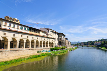 Old City and the Arno river - Historic centre of Florence in Ita