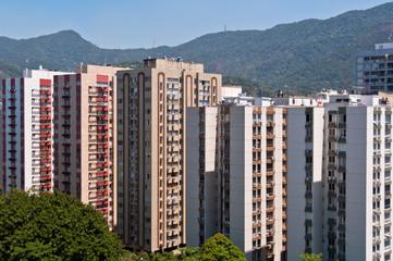 Apartment Buildings in Leblon, Rio de Janeiro with Mountains