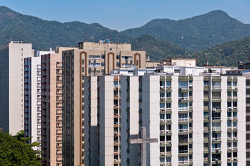 Apartment Buildings in Leblon, Rio de Janeiro with Mountains