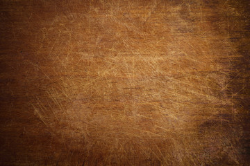 Old grunge wooden cutting kitchen board background