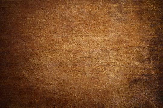 Old grunge wooden cutting kitchen board background