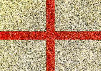 Poster - England, the flag on the texture of the grass