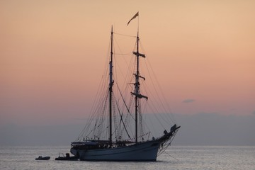 Segelboot Abendstimmung