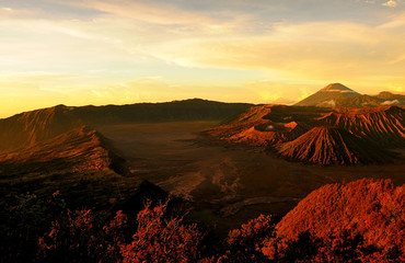 Mount Bromo Volcano of East Java, Indonesia
