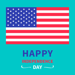 Happy independence day US of America. 4th of July. Card