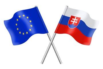 Flags : Europe and Slovakia