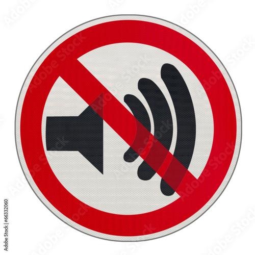 Panneau bruits interdits photo libre de droits sur la banque d 39 images image 66332060 - Comment attenuer le bruit d une route ...