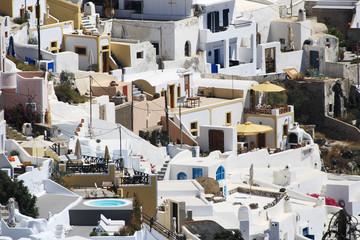 Wall Mural - White village of Fira in Santorini