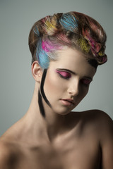woman in artistic beauty portrait