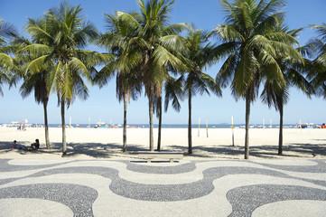 Copacabana Beach Boardwalk Pattern Rio de Janeiro Brazil