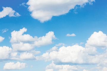 Cloudy blue summer sky freedom background