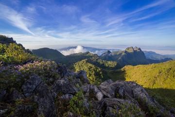 mountains landscape sunrise