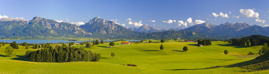 Wall Mural - Panorama Landschaft in Bayern