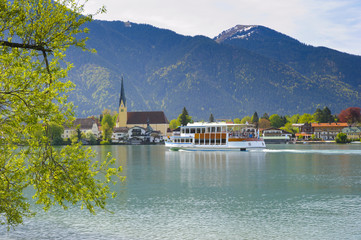 Fototapete - Panorama Landschaft am Tegernsee in Bayern