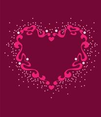 Heart Love Template Vector Clipart Design Illustration