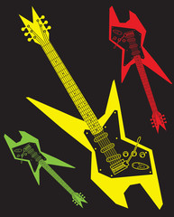 Electric Guitar Vector Clipart Design Illustration
