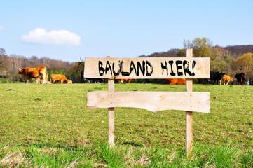 Fototapete - Bauland hier