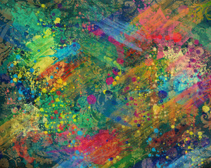 Abstract multicolored strokes and splashes.colorful texture.