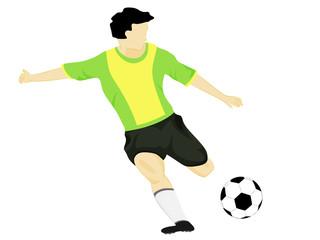 isolated brazil dress soccer player shooting vector