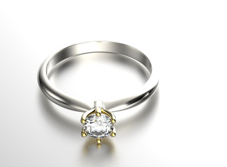 Engagement Ring with Diamond or moissanite. Jewelry background