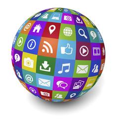 Internet And Web Social Media Concept