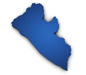 Map Of Liberia 3d Shape