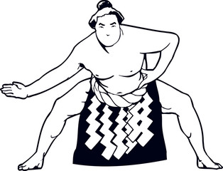 Sumo Wrestler Vector Clipart Design