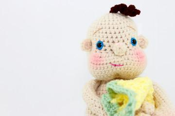 Handmade Baby Doll Close Up