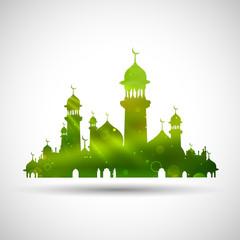 Deurstickers Eid Mubarak (Happy Eid) background