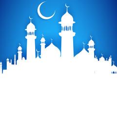 Fototapeta Eid ka Chand Mubarak (Wish you a Happy Eid Moon) obraz