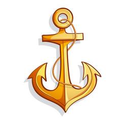 Vector cartoon anchor