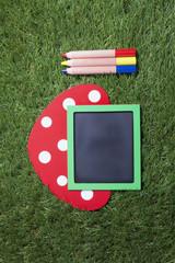 メッセージボードと色鉛筆