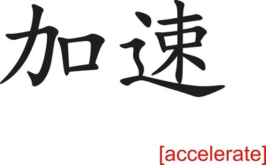 Chinese Sign for accelerate