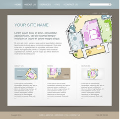 Website design template for building company