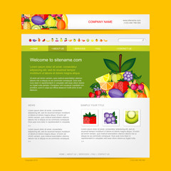Website design template, fruits style