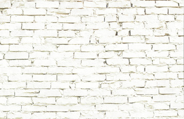 piece of the wall of white brick