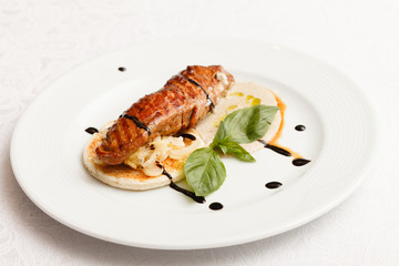 roasted pork with sauce