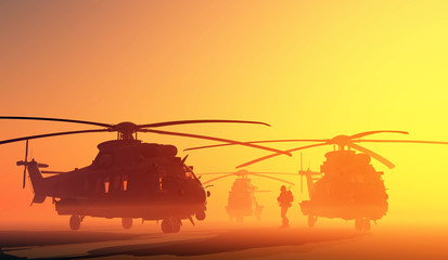The helicopter Wall mural
