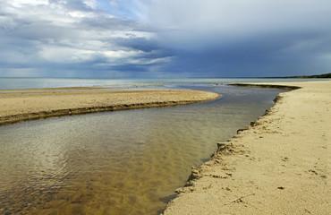 River and sea.