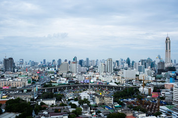 Somewhere in Bangkok with the bird's-eye view