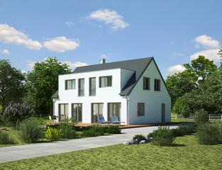 Doppelhaus weiss