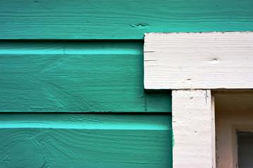 close up of a green door