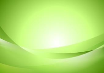 Bright green shiny waves